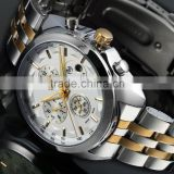 Fancy Fashion Gold Luxury Dress Watches Men Luxury Watch Automatic Stainless Steel WM438