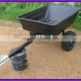 ATV Dumping Poly Garden Utility Trailers, Tool Cart
