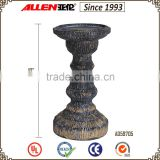 "10"" ceramic and polyresin pillar candle holder, candle stand for sale, factory direct wholesale candleholder                                                                         Quality Choice"