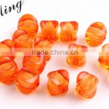 Dark Orange Color Bulk Price Chunky Foursquare Acrylic Transparent Clear Plastic Beads in Beads for Jewelry Decorative Making