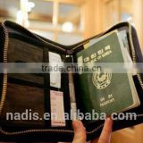 wholesale Waterproof encai new design travel pvc passport cover/cute passport holder/tickets & cards holder