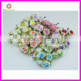 3.5cm head Multicolor double-color PE foam mini flower Bouquet Scrapbooking artificial rose flowers(72pcs)