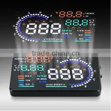 Car HUD Head Up Display Vehicle-mounted Security System With OBD 2 Interface Overspeed Warning Fuel Consumption