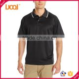 Hign Quanlity Mens 200g 95% Cotton 5% Polyester Summer Short Sleeve Navy Printed Dry Fitted Sport Golf Polo T Shirts