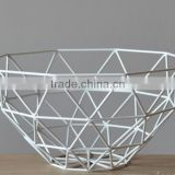 Country style colorful iron wire fruit basket for sale r not expensive