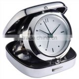 Metal Fold-able Case Travel Alarm Clock