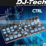 music disco digital mixer console professional software for concert/Stage/party dj music midi controller