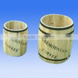 HL085 Set of two Wooden Beer Barrelwith natrual color