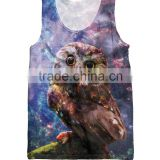 Fshion tank top women gym 3d man vest men