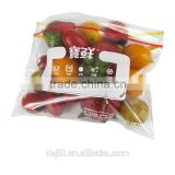 printed food grade LDPE ziplock frozen bag/plastic assort packing bag for fruit,vegetables,pork,beef,chicken