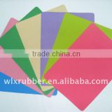 Wholesale natural rubber foam material with colorful fabric top
