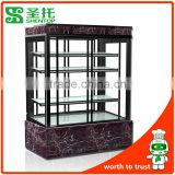 Shentop STPA-K12A 1.2M Front and back door cake cabinet High vertical refrigerated display cabinets 4layer bread display cabine