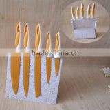 5pcs color kitchen knife with magnetic knife holder MS1024                                                                         Quality Choice