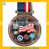 High quality Medal/ Sport medals/ custom zinc alloy award running race metal medals medallion with ribbon                                                                         Quality Choice