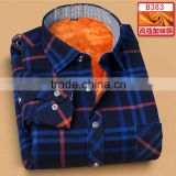 Simple Design Plaids red black Flannel Shirts Long Sleeve Made In China