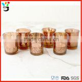 Tealight Votive Holder Home Decoration Romantic Tableware Mecury Candle Glass Rose Gold