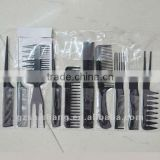 common comb hair comb set pvc bag packing