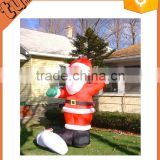 Discount! house decoration inflatable santa claus with bag