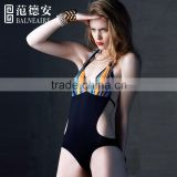 Balneaire black and stripe women sexy monokini swimwear