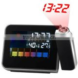 Weather Alarm Clock with Projector / Time Projection / LCD Display table clock