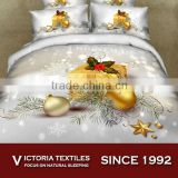 3D micro fiber super soft santa christmas home textiles bed sheets sets king queen twin size