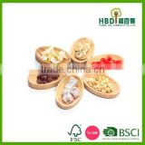 High quality wholesale bamboo wood serving plate set of 6