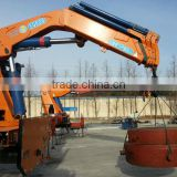 hand operated lifting equipment on truck, Model No.: SQ600ZB4, 30ton truck crane with foldable booms.