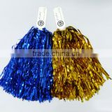 Different color PET Cheerleader Metallic Pom Poms