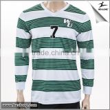 New Product V Neck Striped Long Sleeves Football Jerseys Soccer Jersey