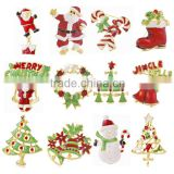 Top selling Amazon 2016 MOQ 12pcs wholesale cheap christmas style jewelry snowman women brooch