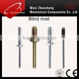 China manufacturered DIN7337 Open type blind rivet