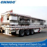 top sale 60 tons low bed trailer, 3 axle extendable flatbed trailers, 3 axle trailers for sale