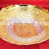 Low cost and attractive promotional gift, corporate gift item gold and silver plated brass bowl