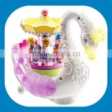 Fantasy Self Riding Swan Animal Toy Musical Rotating Horses Carousel Music Box from dongguan ICTI Manufactory