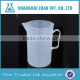 Factory Price PP Plastic Beaker with Handle,Plastic Measuring Cups with Handle