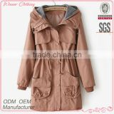 Fashion cotton with knitting combination parka high quality garment mamufacturer mens outer shell jacket