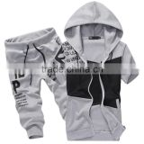 hip hop men's short sleeve hoodie plain tracksuit sweatsuitcoat pant men suit half pants