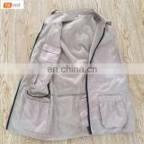 Polyester Custom Strap Safety Hunting Fishing Jacket Vest with Multi-pockets