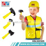 Worker cosplay clothes hat suit children engineer costume for boys