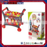 Funny mobile kids kitchen toys dining car factory in china for kids