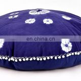 Indian 2017 Mandala and Tie Dye Shibori Print Round Pillow Cover Cushion Cover Round Meditation Ottoman Pouf Cover 32""