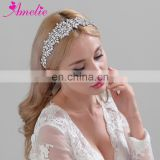 Handmade Shiny Rhinestone Wedding Crystal Belt Bridal Sashes Headband Party Gifts Wedding Dress Bride Belt Sashes Ivory ribbons