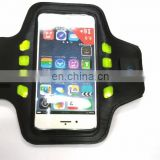 New design neoprene+PU+LED lighting led armband for cell phone