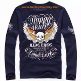 long sleeve blood message motorcycles racing t-shirts
