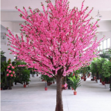 china suppliers artificial peach flower tree for decoration with fiberglass trunk