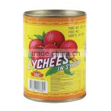Delicious and nutrition green fruit canned lychees in syrup for old people to get feaver away