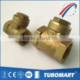 Made in China full brass adjustable check valve with rubber flap