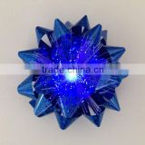 Blue Promotional Christmas Ribbon LED Star Bow/Decoration Tinsel/LED light bow/lighting ribbon bow