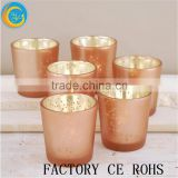 Mercury Votive Holders Rose Gold Set Of 6 Pcs / Glass Cups Jar / Glass Tealight For Wedding Table Decor