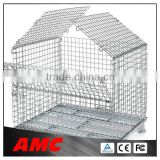 Heavy Duty Equipment Galvanized Metal Storage Cages Wire mesh pallet storage cage